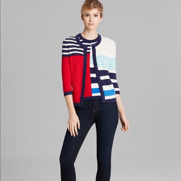 cf7d8d2202e1 kate spade Sweaters - Kate spade Monaco striped Ollie cardigan -235